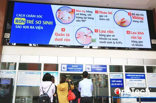 màn hình quảng cáo dành cho bệnh nhân