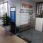Thi công màn hình LCD quảng cáo chân đứng 43′ Android tại Fecon Corp
