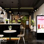 Màn hình LCD quảng cáo – Đột phá doanh thu cho quán trà sữa